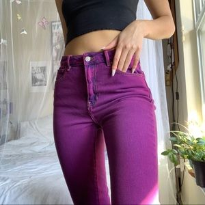 Purple pacsun mom jeans